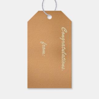 Etiquetas bronceadas metálicas del regalo de la etiquetas para regalos
