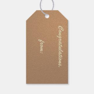 Etiquetas Cobre-Coloreadas del regalo de la Etiquetas Para Regalos