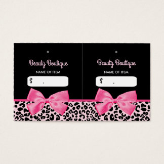 Etiquetas colgantes rosadas femeninas del boutique