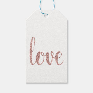 Etiquetas color de rosa del favor del amor del