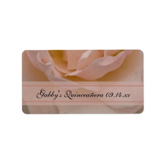 Etiquetas color de rosa rosadas del favor de etiquetas de dirección