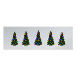 Etiquetas coloreadas multi del árbol de navidad de tarjetas de visita mini