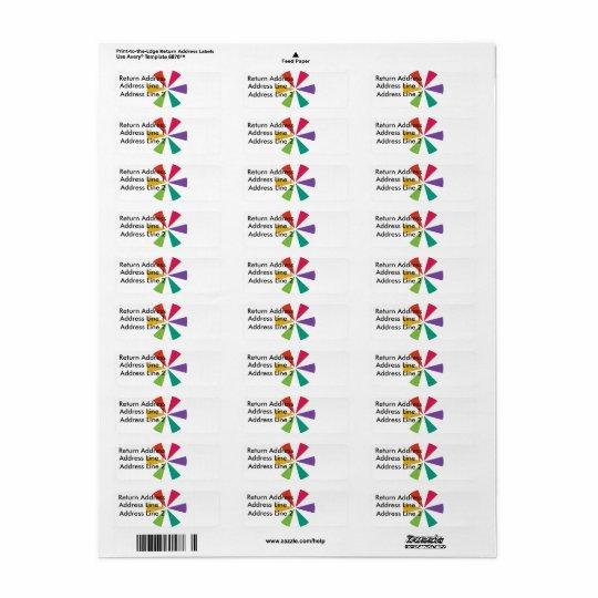 Etiquetas coloridas adaptables del remite