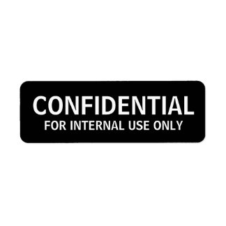 Etiquetas CONFIDENCIALES Etiqueta De Remitente