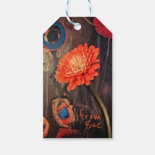 Etiquetas conocidas de encargo florales modernas etiquetas para regalos