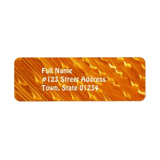 Etiquetas de correo anaranjadas de la lava