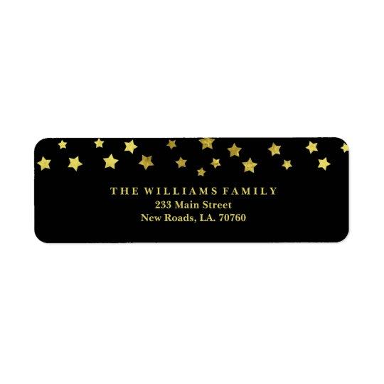 Etiquetas de correo de la estrella del oro