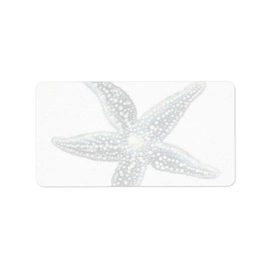 Etiquetas de correo de las estrellas de mar etiqueta de dirección