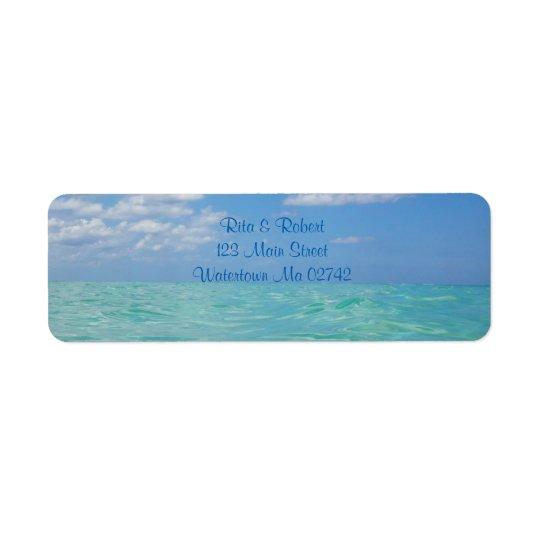 Etiquetas de correo del océano III Etiqueta De Remite