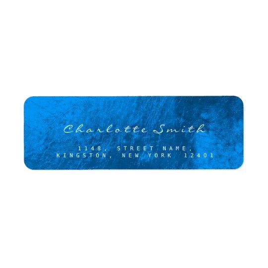 Etiquetas de cristal azules del remite del metal