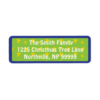 """Etiquetas de devolución """"árboles del navidad de"""