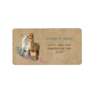 Etiquetas de devolución de la dirección del boda etiquetas de dirección
