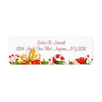 Etiquetas de devolución de la invitación de la etiquetas de remite