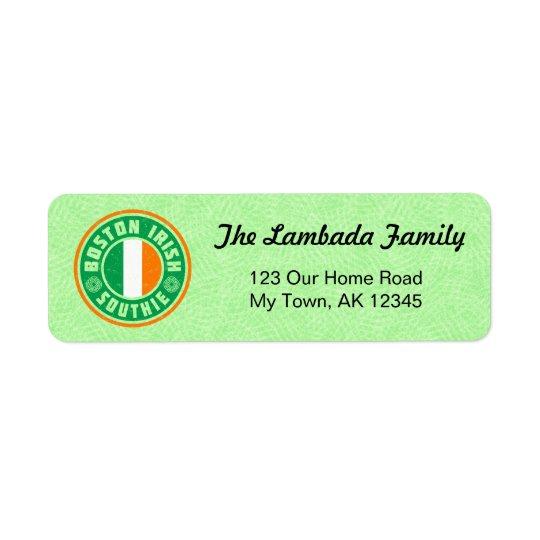 Etiquetas de dirección americanas irlandesas de