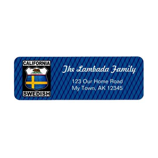 Etiquetas de dirección americanas suecas de
