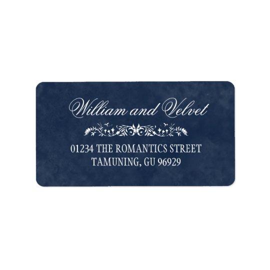 Etiquetas de dirección azules del boda de la