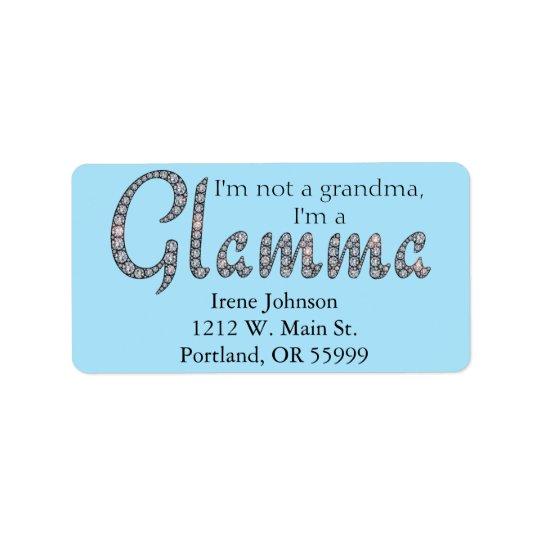 Etiquetas de dirección bling del diseño de Glamma
