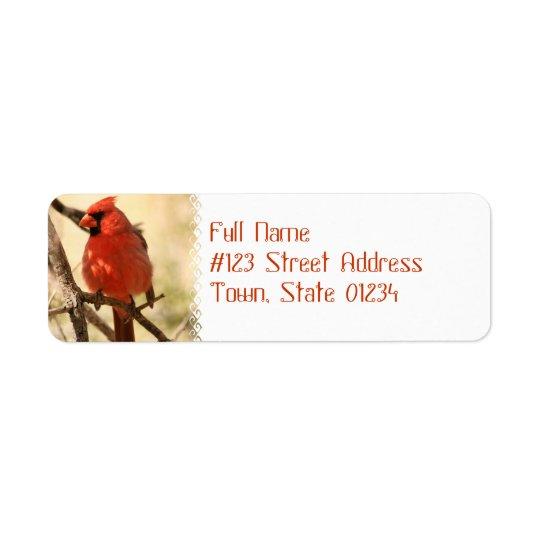 Etiquetas de dirección cardinales rojas
