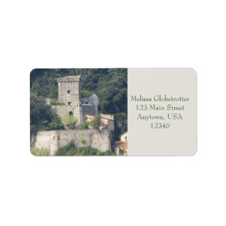 Etiquetas de dirección--Castillo de Lerici
