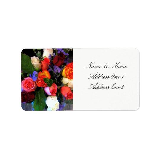 Etiquetas de dirección color de rosa del boda