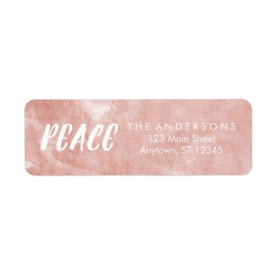 Etiquetas de dirección color de rosa del día de