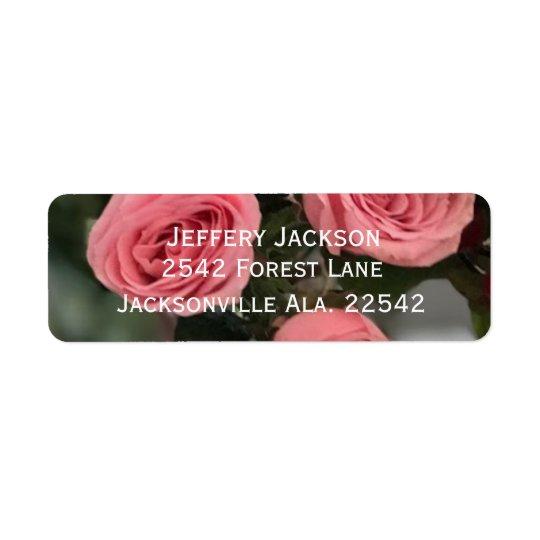 Etiquetas de dirección color de rosa rosadas