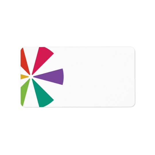 Etiquetas de dirección coloridas