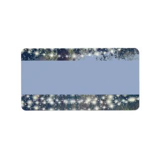 Etiquetas de dirección crepusculares de las luces