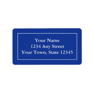 Etiquetas de dirección de encargo - azules marinos