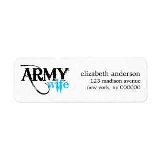 Etiquetas de dirección de la esposa del ejército
