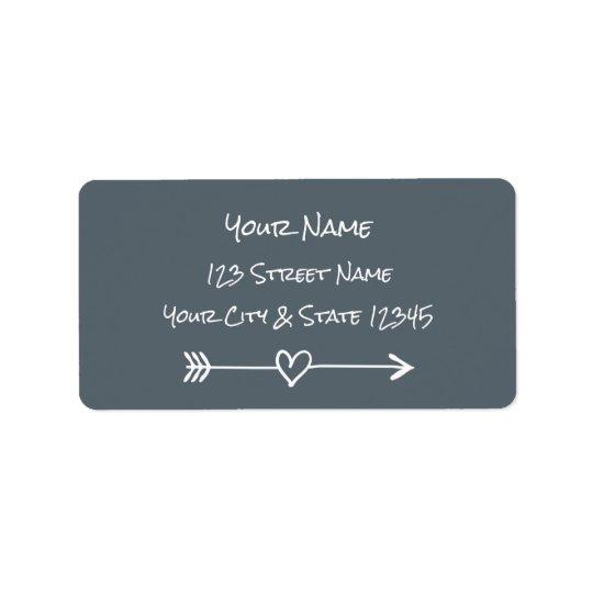 Etiquetas de dirección de la flecha del corazón de