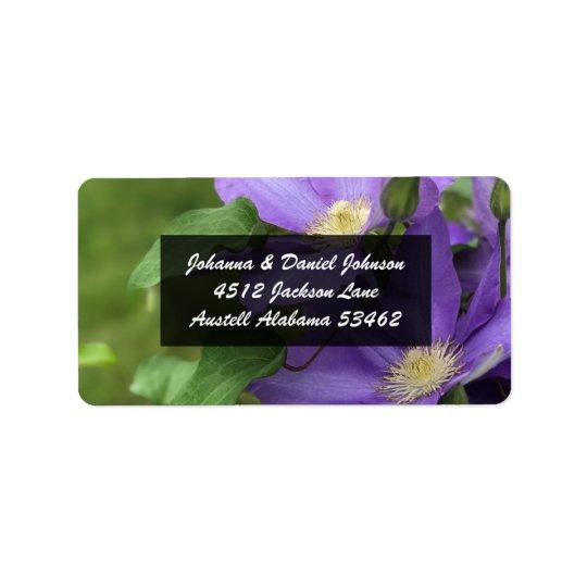 Etiquetas de dirección de la flor del Clematis