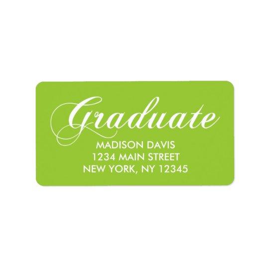 Etiquetas de dirección de la graduación de la