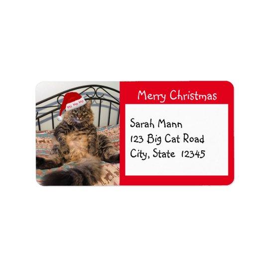 Etiquetas de dirección de las Felices Navidad del