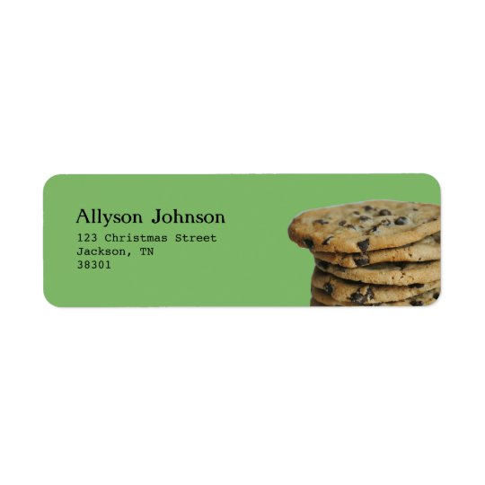 Etiquetas de dirección de las galletas de
