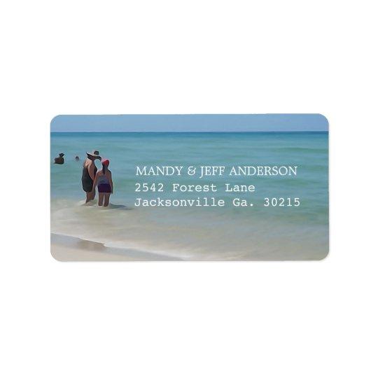 Etiquetas de dirección de los días de la playa