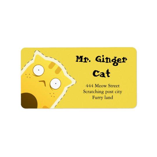 Etiquetas de dirección de Sr. Ginger Cat