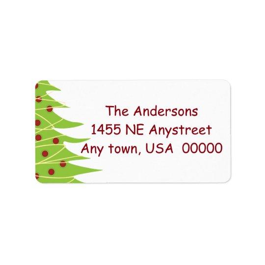 Etiquetas de dirección del árbol de navidad
