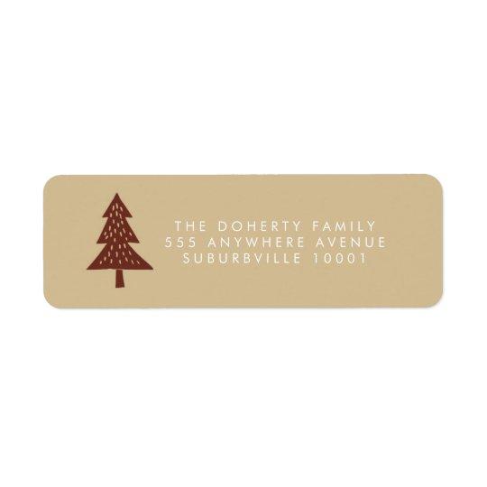 Etiquetas de dirección del árbol de Navidad del
