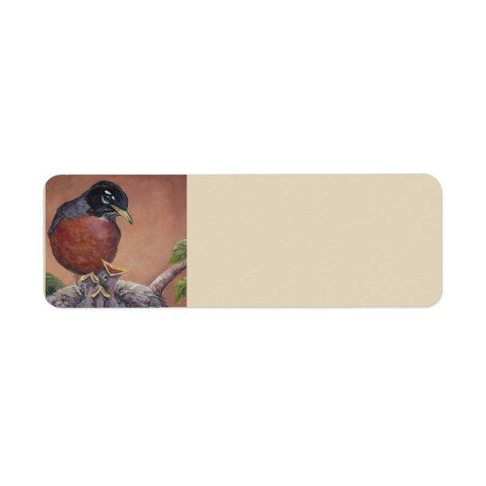 Etiquetas de dirección del arte del pájaro del