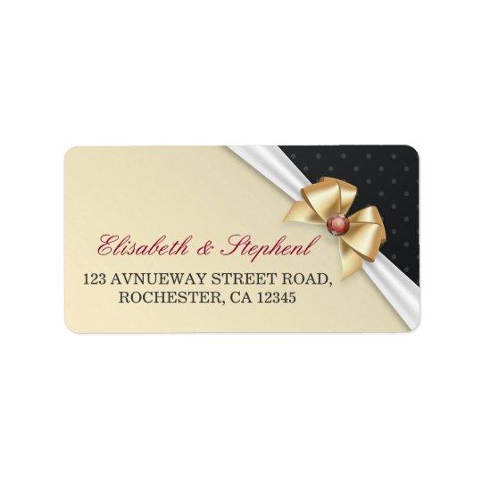 Etiquetas de dirección del boda de diamante de la