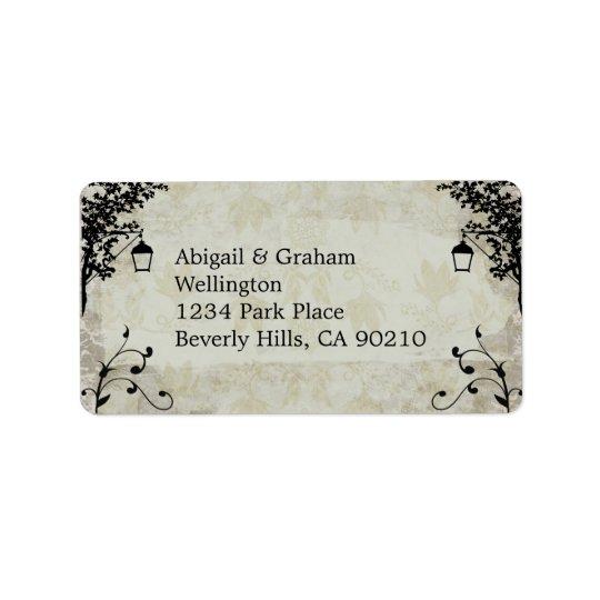Etiquetas de dirección del boda de la apariencia