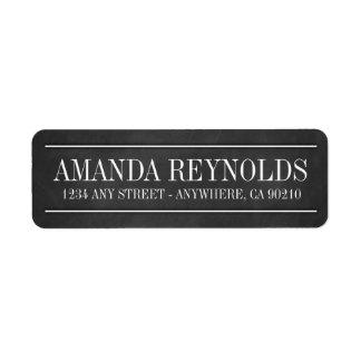 Etiquetas de dirección del boda de la tipografía