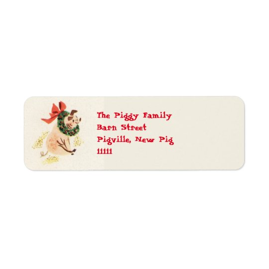 Etiquetas de dirección del cerdo del navidad