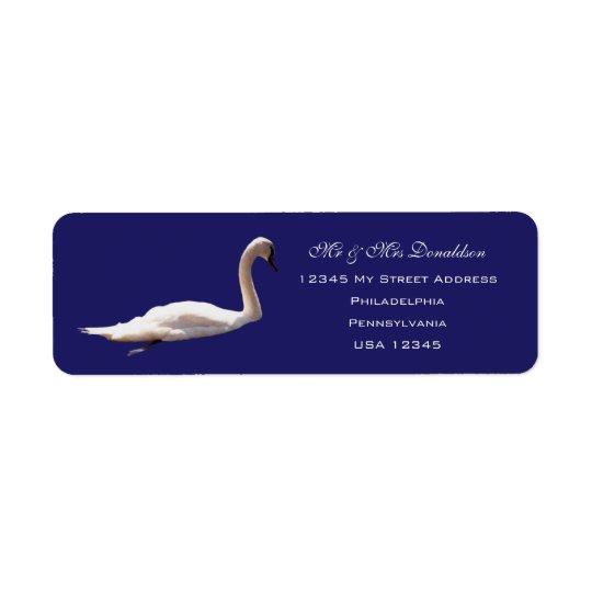 Etiquetas de dirección del cisne