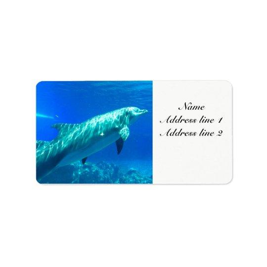 Etiquetas de dirección del delfín