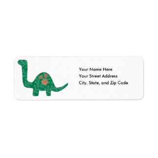 Etiquetas de dirección del dinosaurio