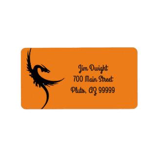 Etiquetas de dirección del dragón