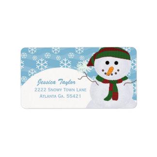 Etiquetas de dirección del muñeco de nieve etiquetas de dirección