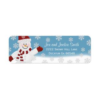 Etiquetas de dirección del muñeco de nieve etiquetas de remite
